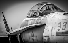 HAM_122 (Dave GRR) Tags: plane fighter jet cf18 hamilton museum airshow black white bw olympus omd em1 14150