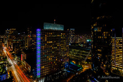 Night in the City (John H Bowman) Tags: canada britishcolumbia vancouver cityskylines urban historic crhp nightshots lighttrails canon16354l