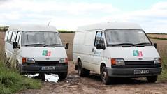 L510 PFL & G587 TEW (2) (Nivek.Old.Gold) Tags: 1994 ford transit bus d 2496cc 1990 190 van diesel ragtseeds ickleton