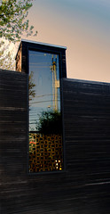 fremont window (dotintime) Tags: fremont window pane glass angle slant tilt diagonal utility wires reflect wood siding dotintime meganlane
