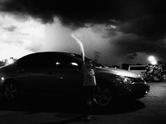 Here Comes The Rain (Meljoe San Diego) Tags: meljoesandiego iphone iphone4s shinji car myson monochrome candid ios philippines