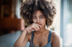 Yealsh [Stranger #57/100] [Explored 30-Aug-2017] (Vijay Britto Photography) Tags: beautiful woman afro frizzy hair 100strangers street naturallight outdoorportraits smile gaze nikon d750 85mm