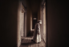 Hotel Ghost Walker (Rustic Lens Photography) Tags: 2017 bannock pioneer ghost ghosttown montana creepy girl hotel