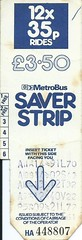 West Yorkshire PTE MetroBus Saver Strip - 12 x 35p Rides (Faversham 2009) Tags: bus wypte ticket 35p scan scanned westyorkshirepassengertransportexecutive west yorkshire yorks buses saverstrip metrobus