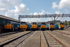 Old Oak Common 2nd September 2017  E1888  2 (focus- transport) Tags: trains old oak common open day classes 31 47 50 57 180 800 d british railways br oliver cromwell tornado colas gbfr gbrf gwr hst rail operations group railcar diesel steam great western railway high speed train gb freight