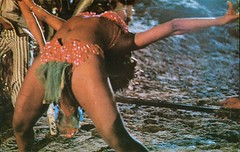 Limbo Dancer, Barbados (SwellMap) Tags: postcard vintage retro pc chrome 50s 60s sixties fifties roadside midcentury populuxe atomicage nostalgia americana advertising coldwar suburbia consumer babyboomer kitsch spaceage design style googie architecture polynesian exotica polynesianpop hawaii hawaiiana bar cocktail