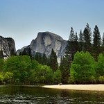 A Panoramic Setting to the Merced River and Half Dome (Yosemite National Park) thumbnail