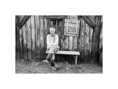 Coachman (Jan Dobrovsky) Tags: oldman portrait kodaktrix400t monochrome human people thepaintedbirdmovie trix blackandwhite 400 leicam6 village analog document grain outdoor biogon 21mm