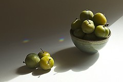Greengages (jeansinclair1) Tags: greengages bowl shadows stilllife green 52in2017challenge 20fruit