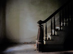 you can climb the lonely stairs...(at 1870 house) (Aces & Eights Photography) Tags: abandoned abandonment decay ruraldecay oldhouse abandonedhouse stairs staircase