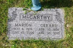 Gravestone - Gerard Robert McCarthy and Marion Jane Beaton