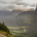 Upon Majestic View (artvbal) Tags: glaciernationalpark montana usa goingtothesunroad mountains valley view clouds light sunlight 2016 creek above majestic artwork photoart topaz