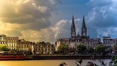 Bordeaux - 3704 (YᗩSᗰIᘉᗴ HᗴᘉS +8 000 000 thx❀) Tags: bordeaux france architecture water gironde aquitaine landscape hensyasmine clouds