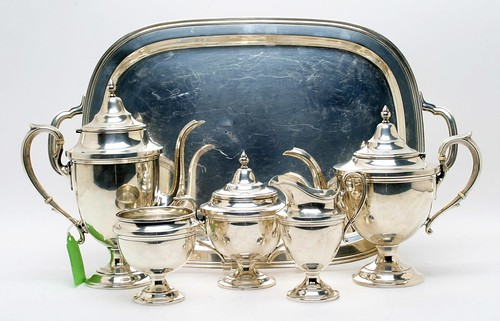 Six Piece Sterling Tea Set ($2,352.00)