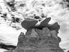 Bisti Badlands-54 (jamesclinich) Tags: bisti badlands danazin wilderness farmington newmexico nm jamesclinich handheld availablelight desert sky landscape rock hoodoo clouds adobe photoshop topaz denoise detail blackwhite bweffects monochrome
