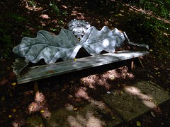 Come and sit with the Greenman for a Happy Bench Monday! (violetchicken977) Tags: benchmonday bench greenman metalwork sculpture
