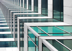 The Vanishing (Darren LoPrinzi) Tags: 5d canon5d fl canon florida miii architectural architecturalabstract vanishingpoint diagonals tampa city urban green turquoise teal shapes perspective abstract windows