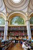 Reading desks, books all around - Salle Labrouste, BnF Richelieu (Monceau) Tags: sallelabrouste bibliothèquenationaledefrance richelieu arches metal support beam library