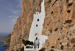 Early morning hike to the Monastery of Hozoviotissa, Amorgos, Greece (Alona Azaria) Tags: hozoviotissa monastery rocks mountains sea aegean amorgos cliff cyclades cyclade