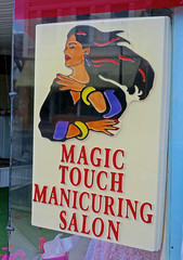Magic Touch Salon, Connersville, IN (Robby Virus) Tags: connersville indiana in magic touch manicure manicuring salon nails fingernails pedicure beauty women sign signage