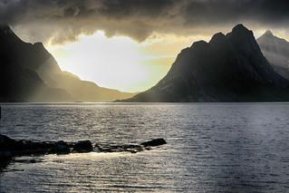 wonderful sunset on Lofoten