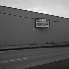 Pendleton, Oregon (austin granger) Tags: pendleton oregon cinema closed vacant impermanence sidewalk movies sign evidence square film gf670 time