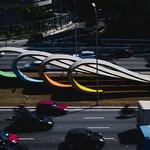 Monumento aos 80 Anos da Imigração Japonesa (Av. 23 de Maio, São Paulo, SP, Brasil). Escultura de Tomie Ohtake. thumbnail