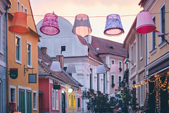 Charming Szentendre (freyavev) Tags: szentendre sentandreja hungary vsco canon canon700d pink lamps thinkpink colorful town outdoor architecture niftyfifty mikasniftyfifty 50mm cute cosy sunset
