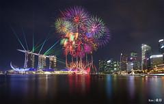 NDP 2017 NE2 Fireworks + MBS Laser Light Show (Ken Goh thanks for 2 Million views) Tags: ndp 2017 mbs laser light show night fireworks reflection landscape cityscape lights lighting colorful colors pentax k1 sigma 1020 ff