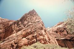 Rock (Vulperine) Tags: road trip minolta x700 danielbremer vulperine zion canyon national park utah landscape desert blue sky rock stone cliff hot sun