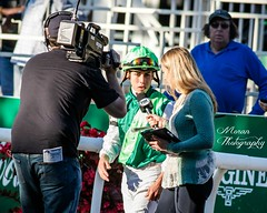 Irad Ortiz interviewed by Gabby Gaudet (EASY GOER) Tags: belmont park horse racing sports equine thoroughbred thoroughbreds races horses canon 5dmarkiii