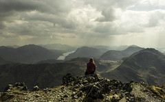 Thoughts (danstephen17) Tags: scotland sky clouds mountains lake loch glencoe bideannambian summer water rocks peaks landscape view bencruachan benstarav lochetive etive glenetive summit