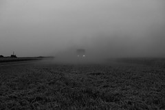 truck (Neal Edelstein) Tags: farm farms farming land wheat harvest canada alberta combine black white raw ps lr canon teamcanon 1635 16 35 edelstein neal