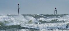Confused (Peter H 01) Tags: ocean sea waves coast surf wind windy gale storm harbour extreme danger