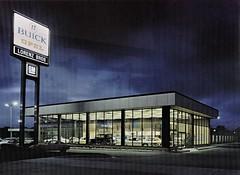 Lorenz Bros. Buick, Lansing MI, 1973 (aldenjewell) Tags: lorenz bros buick lansing mi michigan dealership showroom building catalog 1973