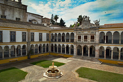University of Evora (Jocelyn777) Tags: history historicsites monuments buildings architecture university evora cities towns courtyard arches fountain travel alentejo portugal textured