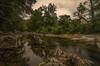Reflejos. (Amparo Hervella) Tags: puenteviesgo ríopas cantabria españa spain nube roca árbol naturaleza reflejo largaexposición d7000 nikon nikond7000 comunidadespañola
