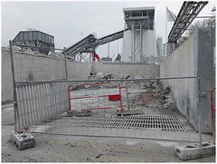 Cement industry (michelle@c away for a few days ...) Tags: urban subsurban cityscape industry industrial site cementry cemex silo conveyorbelt wall cement fence mug sand harbour victor quays seine parisxv 2017 michellecourteau