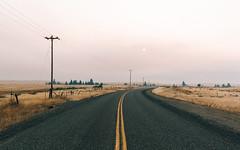 Losing Patience (John Westrock) Tags: road sun wildfiresmoke hazy washington pacificnorthwest landscape rural thorp canoneos5dmarkiii canonef1635mmf4lis sunrise