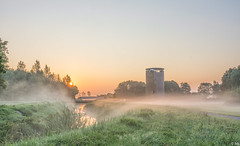 Mist at Sunrise (Martine Lambrechts) Tags: mist sunrise landscape nature tree water