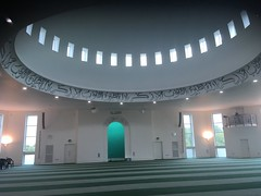 Baitul Futeh Mosque, Morden (Ronald Hackston) Tags: londonopenhouse worship religion open house london england uk ronniehackston mosque morden islam spirituality dome prayer hall