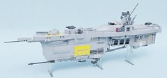 Frankfurt class patrol cruiser (Sunder_59) Tags: lego moc render blender3d mecabricks scifi space starship spaceship spacecraft ship military