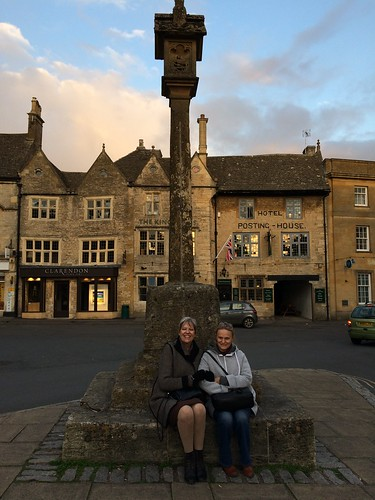Marie France with Elaine at Stow on the Wold