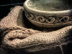 Texture on the Table (clarkcg photography) Tags: bowl rough old texture design burlap course weave blend texturaltuesday