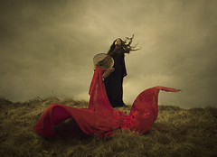 Bloodstream (Maren Klemp) Tags: fineartphotography fineartphotographer darkart darkartphotography conceptual color vintage red blood woman portrait selfportrait windy ethereal nature outdoors dramatic storytelling surreal movement dreamy