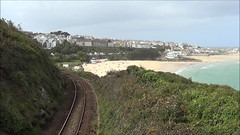 150120 climbs away from St Ives with the 2A24 to St Erth, 6th Sept 2017. (Dave Wragg) Tags: 150120 class150 sprinter firstgreatwestern fgw stives 2a24 dmu railcar railway