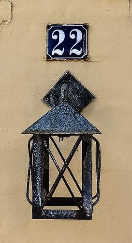 Laterne in der Fußgängerzone von Sonderborg