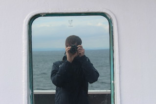 Self-portrait on the ferry from Port Askaig to Oban