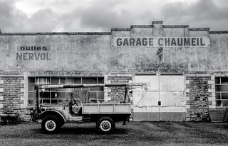France and a disused garage