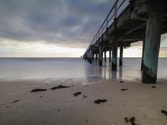 Seaford Pier (Thunder1203) Tags: adobecc aurorahdr australianimage beach beachesofaustralia canonaustralia canoneos80d frankston macphun morningtonpeninsula pier portphillipbay sand sea seafordpier shoreline topazlabs topazstudio clouds hdr longexposure photomatix scenery seaside seaford victoria australia au